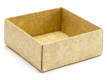 4 choc Base - Natural Kraft [BASE ONLY] | Meridian Speciality Packaging