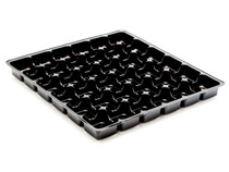 36 Choc Square Vac-Forme Tray - Black | Meridian Speciality Packaging