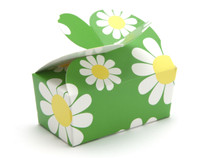 2 Choc Daisy Floral Butterfly Ballotin | Meridian Speciality Packaging