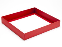 25 Choc Square Red Wibalin Base [BASE ONLY] | Meridian Speciality Packaging