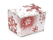 1 Choc Ballotin - Red and White Snowflake | Meridian Speciality Packaging