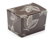 1 Choc Ballotin - Brown Cocoa Pod   Meridian Speciality Packaging