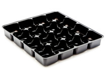 16 Choc Square Vac-Forme Tray - Black | Meridian Speciality Packaging
