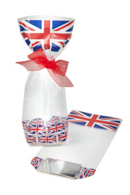 Printed Union Jack Hard Bottom Bag - 100x220mm | Meridian Speciality Packaging