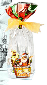 100x220 Metallic Santa Balloon Hard Bottom Bag | Meridian Speciality Packaging