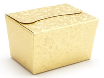 100g Ballotin - Embossed Gold | Meridian Speciality Packaging