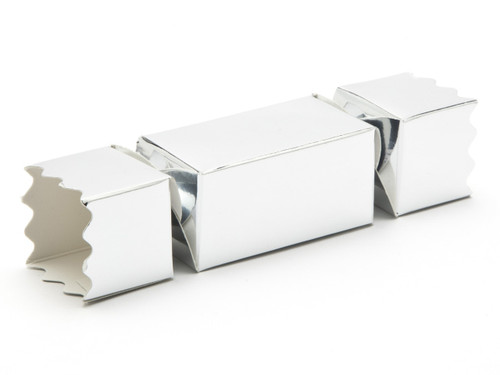 Small Twist End Cracker - Bright Silver | Meridian Speciality Packaging