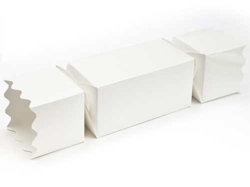 Large Twist End Cracker - White | Meridian Speciality Packaging
