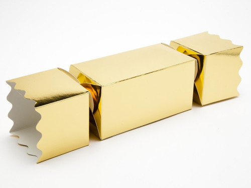 Large Twist End Cracker - Bright Gold | Meridian Speciality Packaging