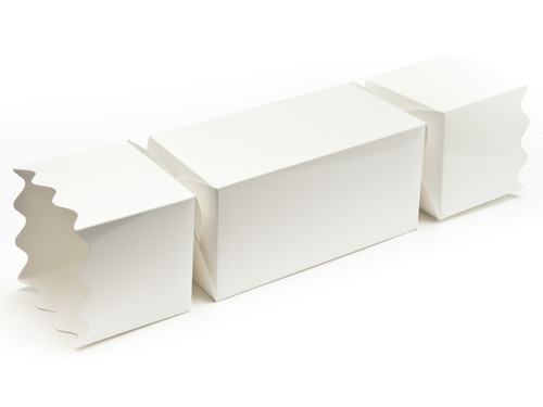 Giant Twist End Cracker - White   Meridian Speciality Packaging