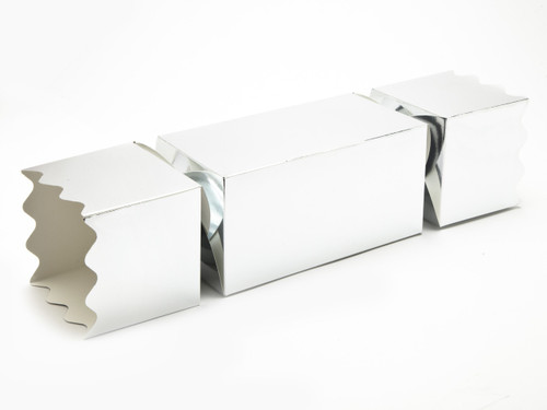 Giant Twist End Cracker - Bright Silver   Meridian Speciality Packaging