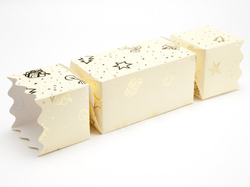Extra Large Twist End Cracker - Trees and Presents | Meridian Speciality Packaging