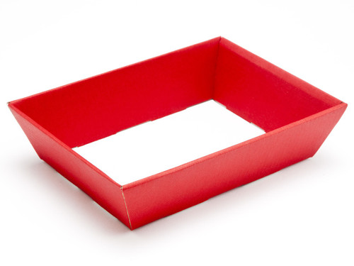 Hamper Tray - Small Shallow Card Tray Hamper - Deluxe Red   Meridian Speciality Packaging