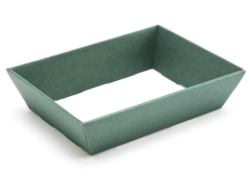 Hamper Tray - Small Shallow Card Tray Hamper - Deluxe Dark Green | Meridian Speciality Packaging