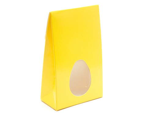 Small Sunshine Yellow A-Frame Ctn with Window | Meridian Speciality Packaging