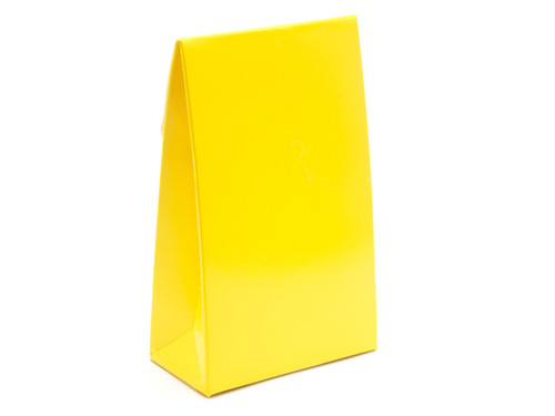Small Sunshine Yellow A-Frame Carton | Meridian Speciality Packaging