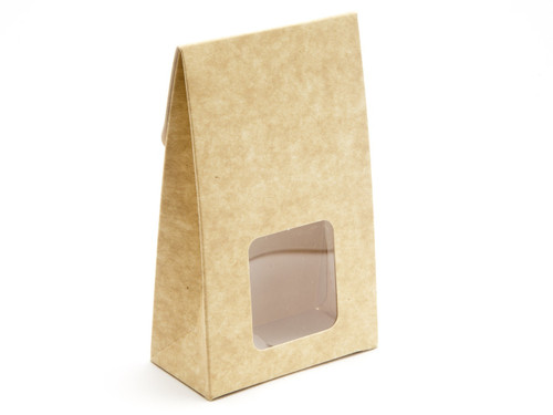 Small Natural A-Frame Carton with Sq. PVC Window | Meridian Speciality Packaging