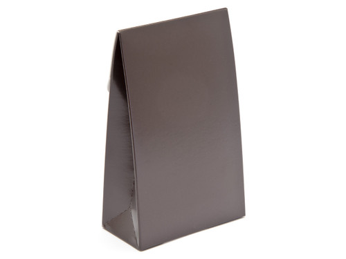 Small Chocolate Brown A-Frame Carton | Meridian Speciality Packaging