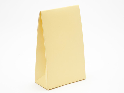Small Buttermilk Yellow A-Frame Carton | Meridian Speciality Packaging