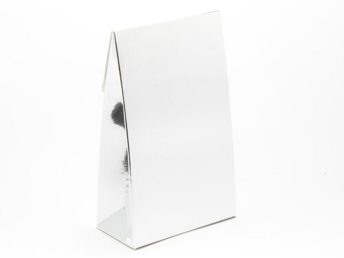 Small Bright Silver A-Frame Carton | Meridian Speciality Packaging