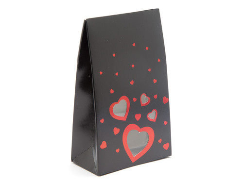 Small Black Love A-Frame Carton | Meridian Speciality Packaging
