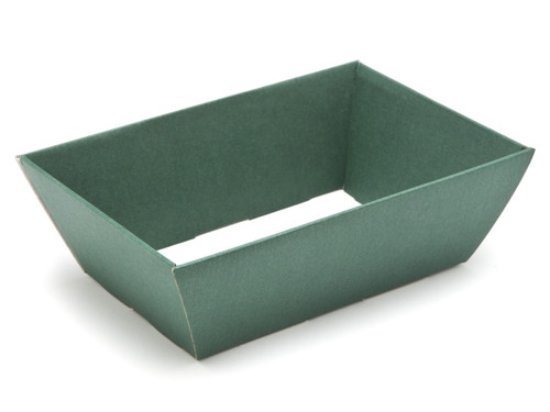 Hamper Tray - Small Card Tray Hamper - Deluxe Dark Green | Meridian Speciality Packaging