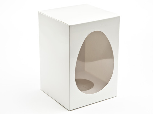 Medium White Easter Egg Carton and Plinth   Meridian Speciality Packaging