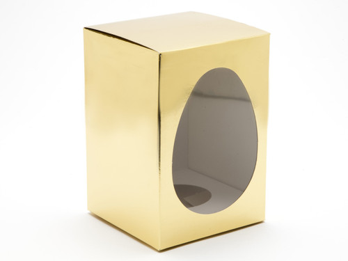 Medium Br Gold Easter Egg Carton and Plinth   Meridian Speciality Packaging