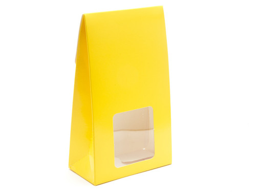 Lge Sunshine Yellow A-Frame Ctn with Win | Meridian Speciality Packaging