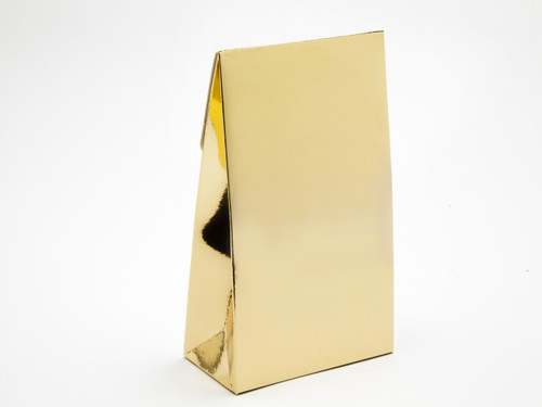 Large Bright Gold A-Frame Carton | Meridian Speciality Packaging
