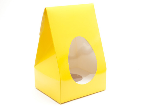 Lge Sunshine Yellow Tapered Egg Ctn and Plinth | Meridian Speciality Packaging