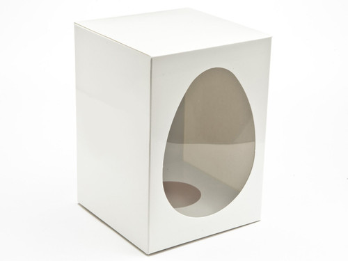 Large White Easter Egg Carton and Plinth | Meridian Speciality Packaging