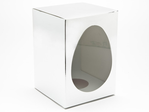Large Br Silver Easter Egg Carton and Plinth | Meridian Speciality Packaging
