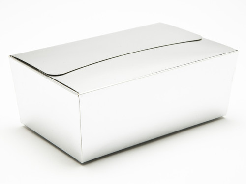 750g Ballotin - Bright Silver | Meridian Speciality Packaging