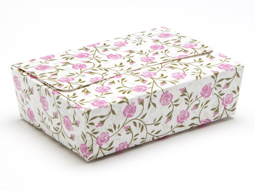 6 Choc Ballotin - Rose Floral | Meridian Speciality Packaging