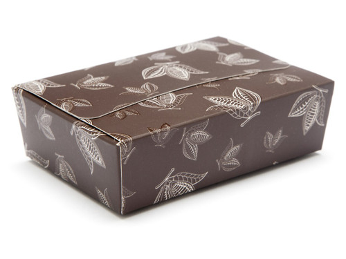 6 Choc Ballotin - Brown Cocoa Pod | Meridian Speciality Packaging