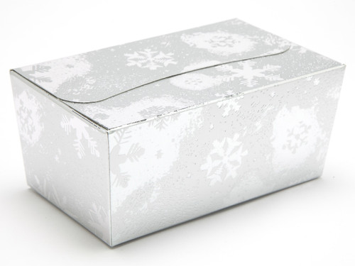 500g Ballotin - Silver Snowflake | Meridian Speciality Packaging