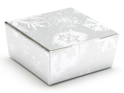 4 Choc Ballotin - Silver Snowflake | Meridian Speciality Packaging