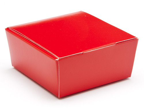 4 Choc Ballotin - Red | Meridian Speciality Packaging