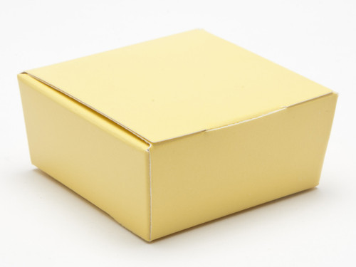 4 Choc Ballotin - Buttermilk Yellow | Meridian Speciality Packaging