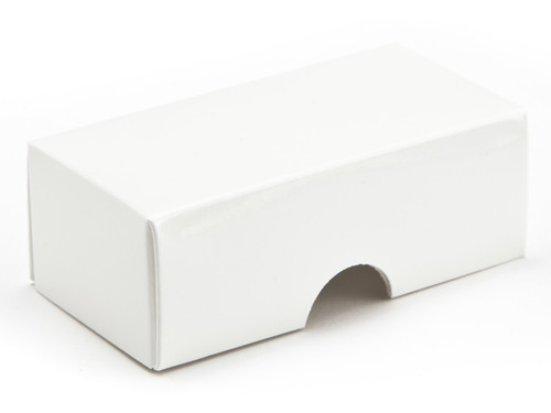 2 Choc Lid - White [LID ONLY] | Meridian Speciality Packaging
