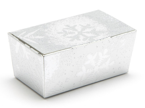 2 Choc Ballotin - Silver Snowflake | Meridian Speciality Packaging