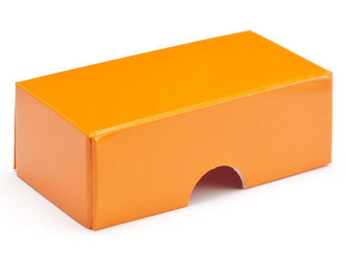 2 choc Lid - Orange [LID ONLY]   Meridian Speciality Packaging