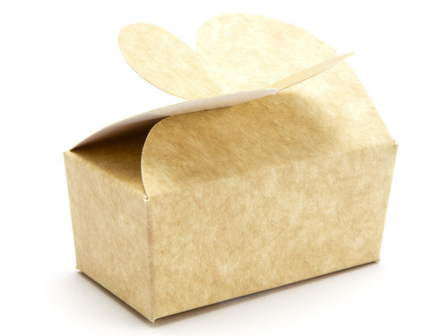 2 Choc Natural Kraft Butterfly Ballotin | Meridian Speciality Packaging