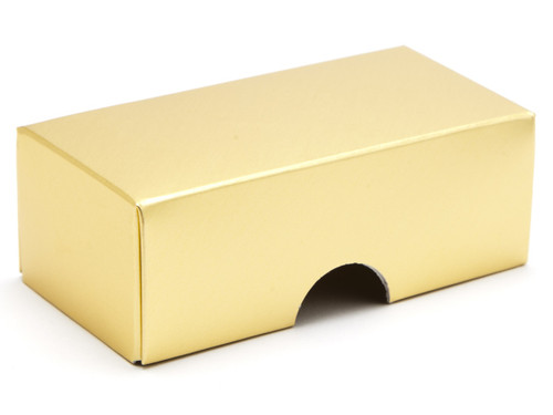 2 Choc Lid - Matt Gold [LID ONLY] | Meridian Speciality Packaging