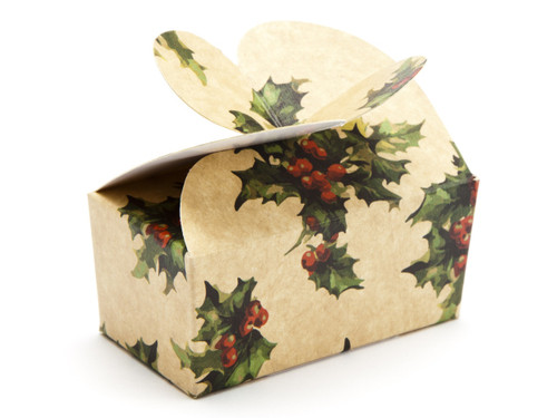 2 Choc Kraft Holly Butterfly Ballotin | Meridian Speciality Packaging