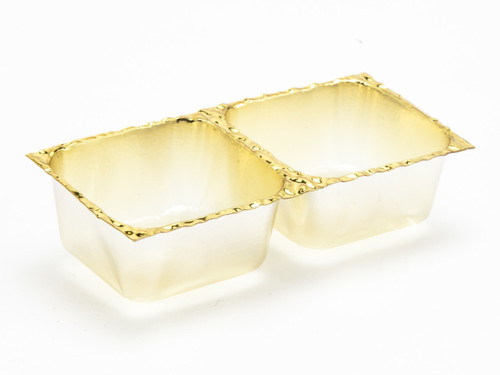 2 Choc Vac-Forme Tray - Gold | Meridian Speciality Packaging