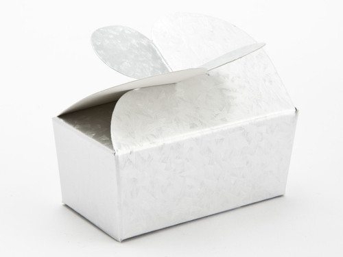 2 Choc Emb Silver Butterfly Ballotin | Meridian Speciality Packaging