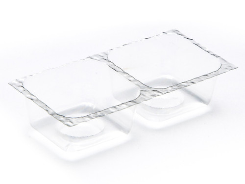2 Choc Vac-Forme Tray - Clear | Meridian Speciality Packaging