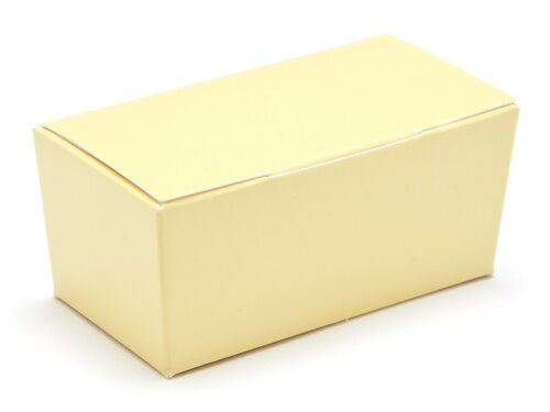2 Choc Ballotin - Buttermilk Yellow | Meridian Speciality Packaging